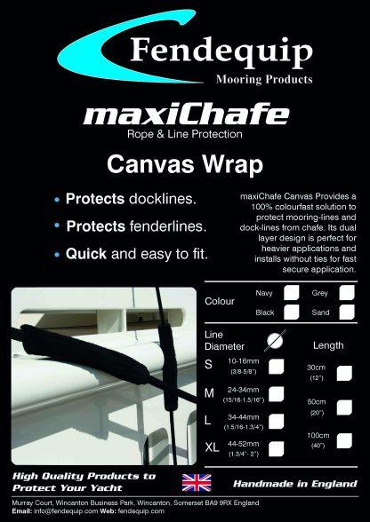 maxiChafe, Fendequip, Canvas Wrap, Yacht, Super Yacht, Boat, Ship, UK, UK Manufactured